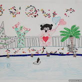 Display of art workshop done by sevasadan and govt girls school