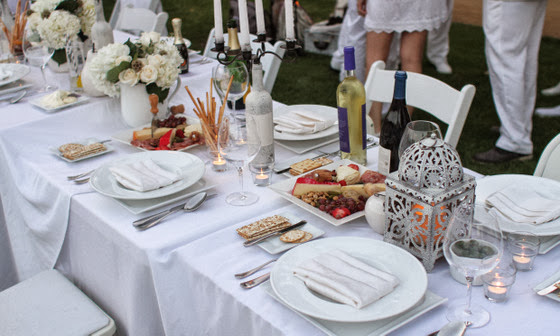 close-up photo of the table settings