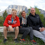 with my Dutch friends in Banff, Alberta in Calgary, Alberta, Canada
