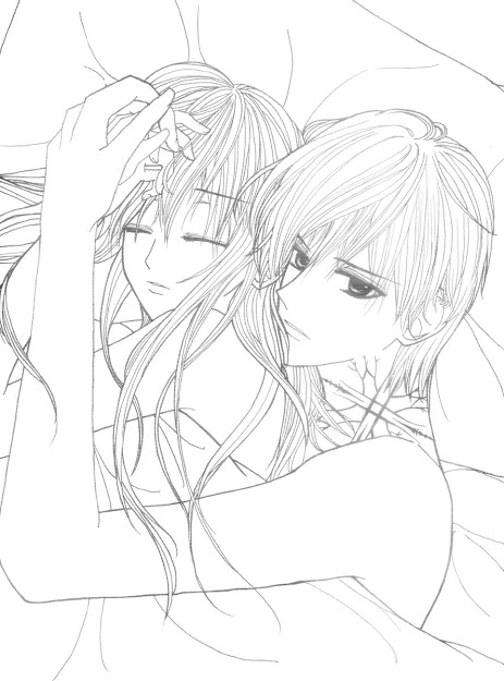 Anime Couples Colouring Pages For Anime Couples Coloring Pages