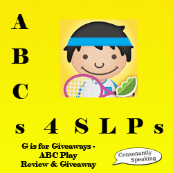 ABCs 4 SLPs: G is for Giveaways - ABC Play Review and Giveaway image