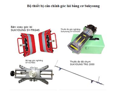 Bộ cân chỉnh góc lái bằng cơ Sukyong - Hàn Quốc