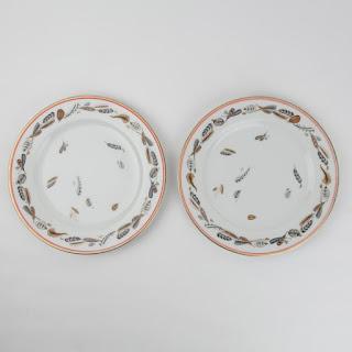 Lorenz Hutschen Reuther For Tiffany  Plumery Plates