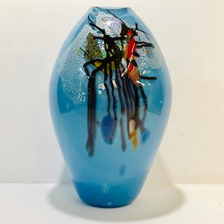 Signed Art Glass Vase 1