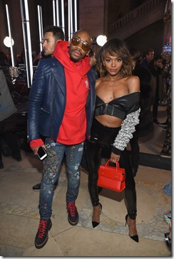 NEW YORK, NY - FEBRUARY 13:  Elly Karamoh and Elisa Johnson attend the Front Row for the Philipp Plein Fall/Winter 2017/2018 Women's And Men's Fashion Show at The New York Public Library on February 13, 2017 in New York City.  (Photo by Dimitrios Kambouris/Getty Images for Philipp Plein)
