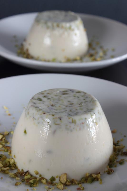 Delicias de pistacho - Panna cotta de pistacho
