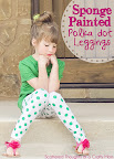 sponge painted leggings