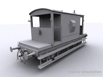 Fastline Simulation: dia 1/507 20T brake van.