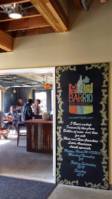 Barrio Bar at Portland Mercado where you can order a wine, beer, michelada, or sangria to enjoy. Every drink you order from Barrio helps - a percentage of the beverage profits go back to Portland Mercado's Arts and Cultural Programming and supporting small business development.