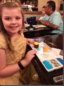 dinner at castle dessert