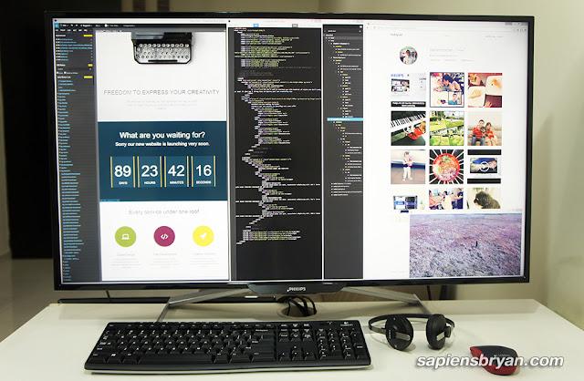 Single Huge Monitor Setup