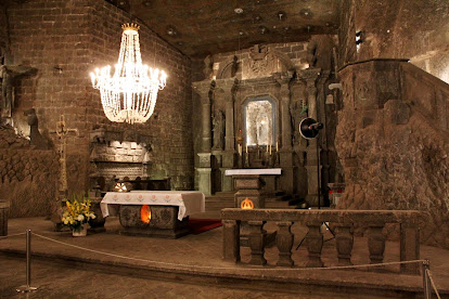 Altar de la Capilla de Santa Kinga (minas de sal de Wieliczka)