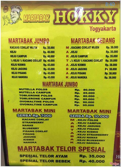 Martabak Hokky, Yogyakarta