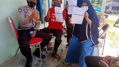 30 Warga Desa Siabu Antusias Ikuti Vaksinasi Massal di Kantor Puskesmas Desa