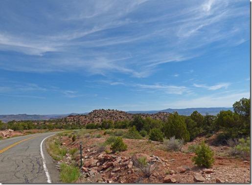 heading north-northeast on Colorado highway 141