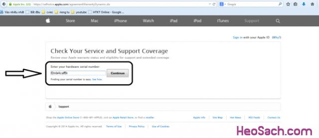 Hình 4 - Hướng dẫn kiểm tra bảo hành, xuất xứ điện thoại iPhone, iPad