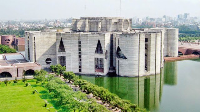 An upper view of National Assembly Building