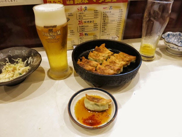 餃子と生ビール