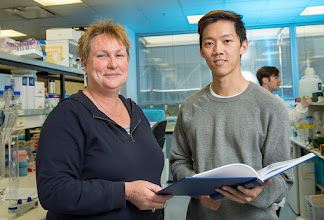 Photo: A/Prof Margaret Hibbs & Dr Maverick Lau, her recent PhD student who completed and passed his thesis late 2014.