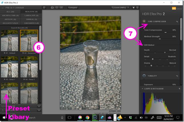 Tonemapping Interface controls in NIK HDR Efex Pro 2