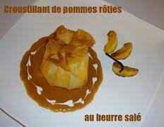Croustillant de pommes rôties au beurre salé