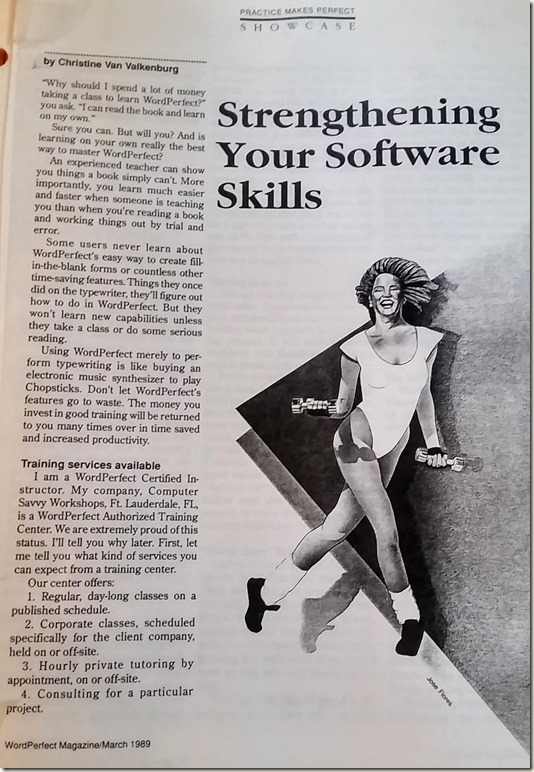 wordperfect magazine 1989