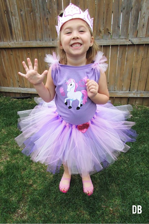 Pink and Purple Unicorn Birthday Tutu outfit Handmade by Daydream Believers Designs