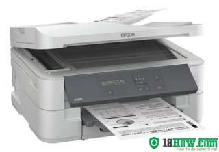 How to reset flashing lights for Epson K301 printer
