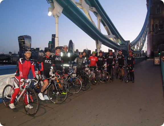 NCG at the start on Tower Bridge in London