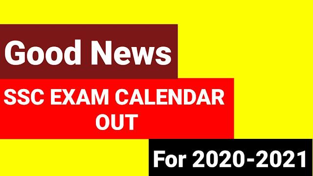 SSC upcoming Exam dates 2020-21 , SSC exam Calendar 2020-2021