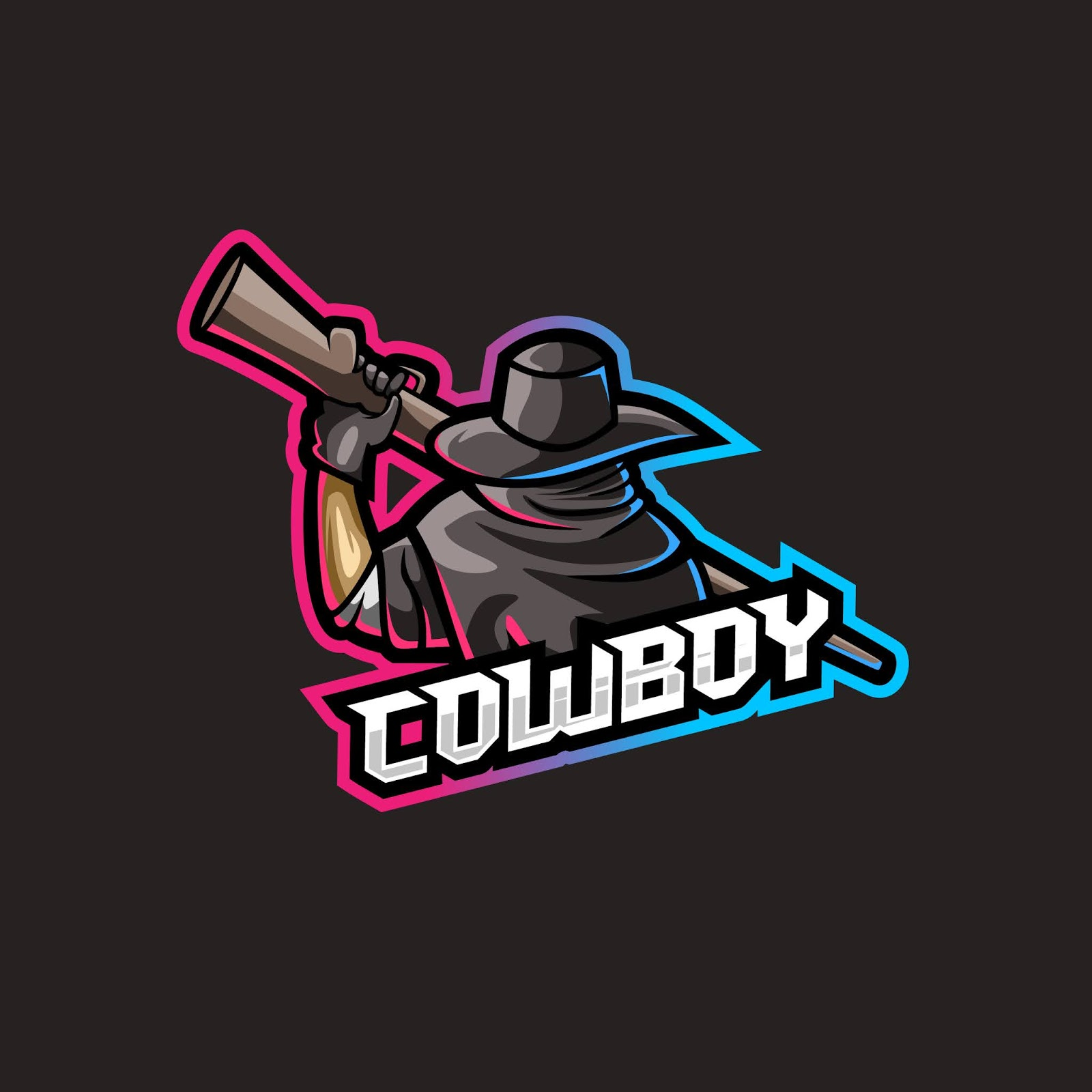 Cowboy With Weapon Illustration Free Download Vector CDR, AI, EPS and PNG Formats