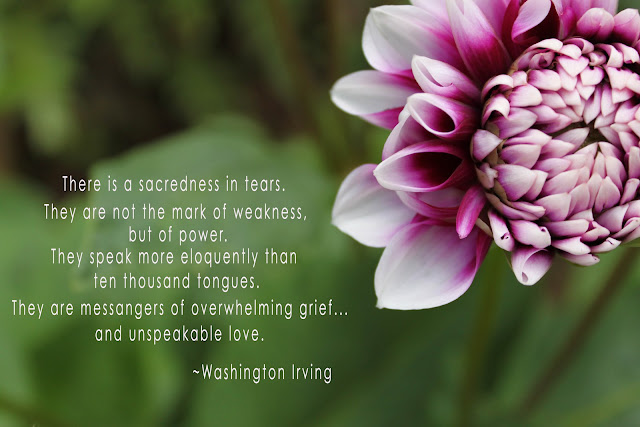 Honoring Our Angels: There Is A Sacredness In Tears