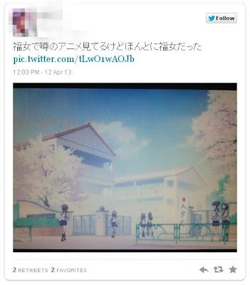 アニメ「ゆゆ式」の女子高のモデルは福女こと福岡女子高校