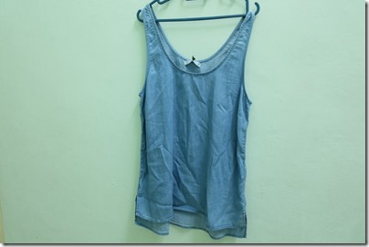 chambray tank top from Cotton On
