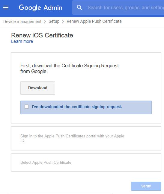Renew iOS Certificate
