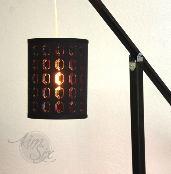 Copper and black lamp shade