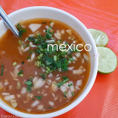 CarouLLou.com Carou LLou in Mexico city consome soup +