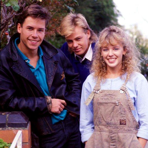 Guy Pearce, Jason Donovan and Kylie Minogue a long, long time ago