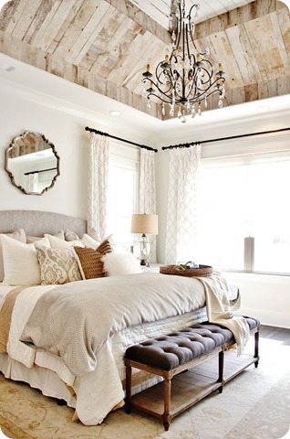 single mirror over bed decor