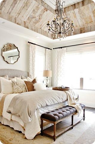 single mirror over bed decor