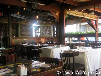 Patio Seating at Anis Cafe & Bistro in Atlanta, GA - Photo by Michelle Judd of Taste As You Go
