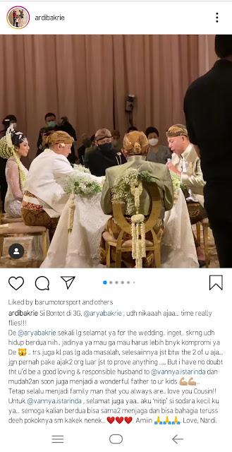 Instagram Ardi Bakrie