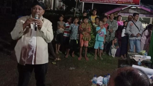 Ketua DPRD Pasbar Reses di Kampung Tinggiran Mudik