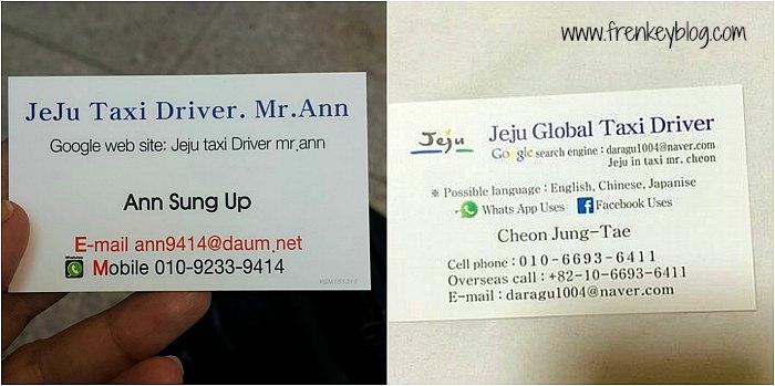 Jeju Taxi Driver Contact