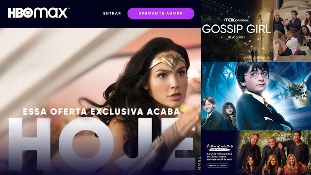 HBOMAX Prorroga por mais 1 dia oferta com 50% de desconto
