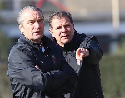 Bernd Storck és Andreas Möller, a magyar válogatott szakvezetői