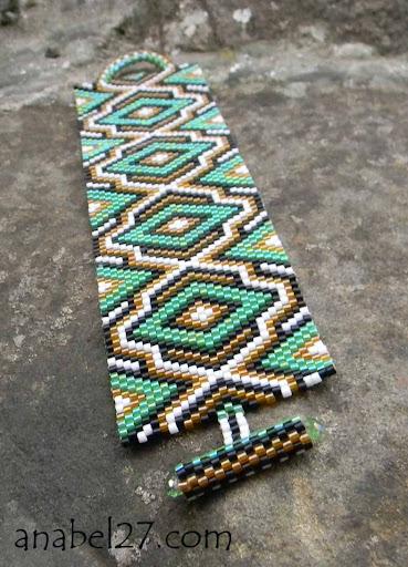 Браслет из бисера Anabel peyote bracelet beading beads