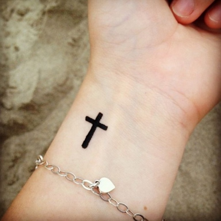 Cross Tattoo Design on Hand