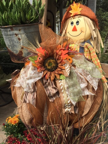 pumpkins and scarecrows - fall decor