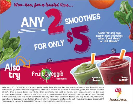 jamba juice coupon. new Jamba Juice coupon!